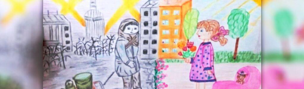 Правнуки героев рисовали День Победы